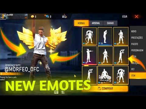 NEW EMOTE FREE FIRE   OB 29 NEW EMOTES   UPCOMING ALL NEW EMOTES FREE FIRE
