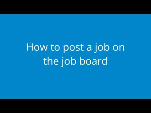 How do I post a job on the Job Board?
