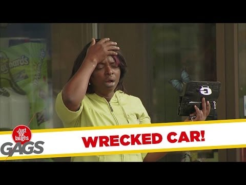 Steel Beam Through Windshield Prank - Youtube