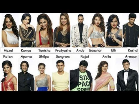 contestants - Television's biggest reality show BIGG BOSS Season 7 is back on colors. 15 contestants will be locked inside the house for 104 days where they will face heav...