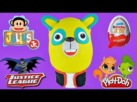 Giant Surprise EGG Special Agent Oso Justice League Julius Jr. Kinder Joy LEGO Princess Shopkins