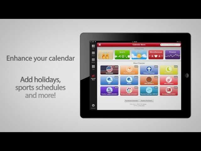 Week Calendar app promo video