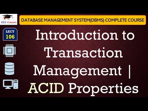 Transaction Management, ACID Properties in DBMS(English|Hindi)