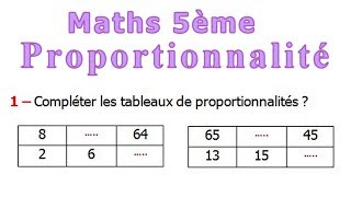 Maths 5ème - La proportionnalité Exercice 8