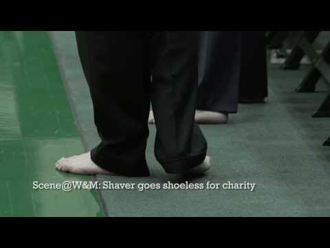 Scene@W&M: Shaver goes shoeless for charity