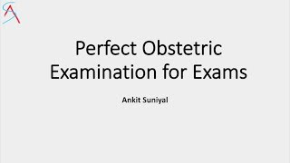Learn here how to do perfect Obstetric Examination for your clinical exams. Special video for medical professionals- MBBS students/ nursing students / Residents appearing for MS/DNB exams. To buy the subject wise question bank for MBBS theory/practical/viva exams click here - http://amzn.to/2qvSTFGTo download the obstetric examination proforma click here - http://bit.ly/2qQffSu