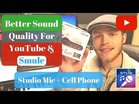Better Sound Quality For YouTube And Smule (Studio Mic+ Phone)