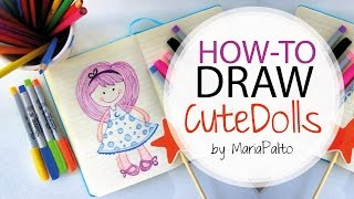 How to Draw Cute Dolls with Sharpie Markers by MariaPalito