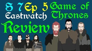 "A brief review of Game of Thrones, Season 7 Episode 5, titled Eastwatch, from the Stark sisters in the North, to the Dragon Queen in the South and Jon Snow on his epic quest beyond the wall. Based on the series A Song of Ice and Fire by George R R Martin.Support Civilization Ex with a Monthly Pledge of your choice at:https://www.patreon.com/civilizationexFollow us https://twitter.com/civilizationexVisit our Site: http://www.civilizationex.com/Music By RFGBc: https://www.youtube.com/channel/UCQKGLOK2FqmVgVwYferltKQMusic by Ross Bugden (RFGB): ""Ice and Fire""https://www.youtube.com/channel/UCQKG...If you would like to show your support, please Donate! :)https://www.paypal.com/cgi-bin/webscr..."