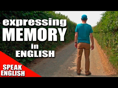 english - In this lesson, we look at the human memory and all the English words connected with it.