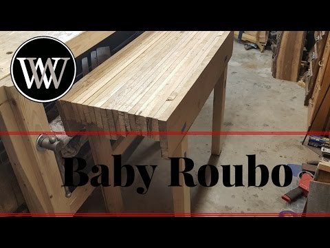 Making a Baby Roubo Bench From White Oak For My Kids Part 1
