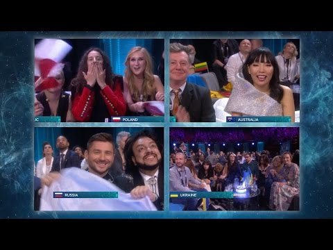 Public vote changes everything - Eurovision Song Contest 2016 Grand Final - BBC One (видео)