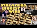 Streamers Biggest Wins   18  2018