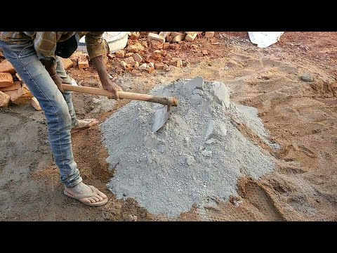 water Cement sand ratio mixing method