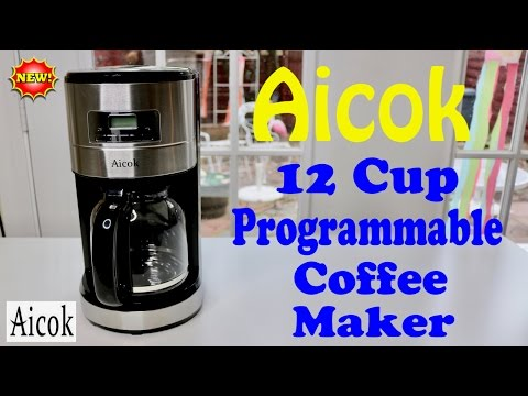 😍 AICOK   12 Cup Programmable Coffee Maker -  Review ✅