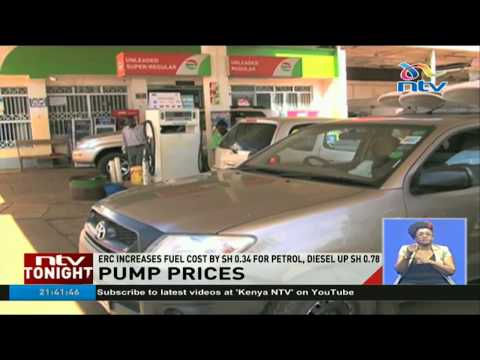 ERC increases fuel cost by sh 0.34 for petrol, diesel up sh 0.78
