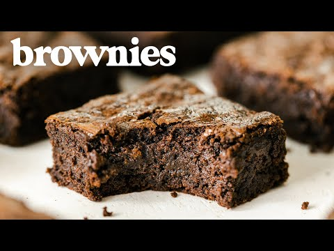 The Perfect BROWNIE - How to Make FUDGY Crackly-Top Brownies