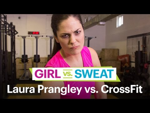 Comedian Laura Prangley vs. CrossFit — Comedians Try Hot New Workouts — SELF's Girl vs. Sweat