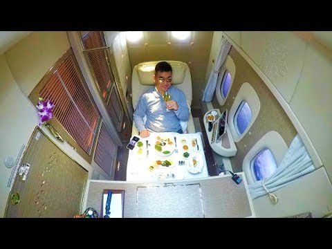 EMIRATES NEW 2018 FIRST CLASS - IT'S A 5* HOTEL!!!