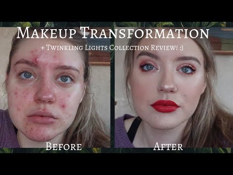 ACNE COVERAGE MAKEUP TRANSFORMATION + TWINKLING LIGHTS COLLECTION REVIEW COLOURPOP Kaysi Fischer
