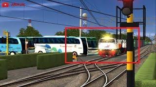 Download Video NYARIS !!! Sebuah Bis Hampir Tertabrak KA Barang - Trainz Simulator Indonesia MP3 3GP MP4