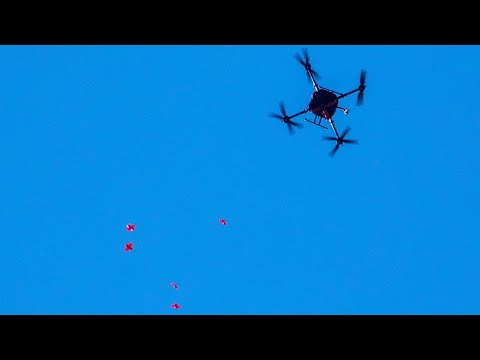 It's Raining Drones! NASA drops 100 drones tiny enough to fit in your hand © NASA Langley Research Center