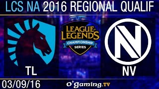 Liquid vs EnVy - LCS NA Regional Qualifiers - Day 1