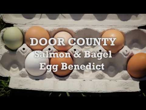 Savor Door County - Salmon and Bagel Eggs Benedict