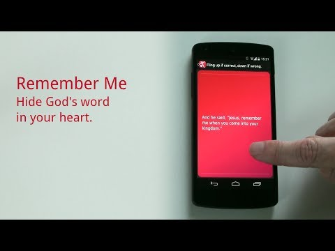 Video of Bible Memory: Remember Me