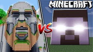 NOTCH HOUSE vs. HEROBRINE HOUSE in Minecraft!