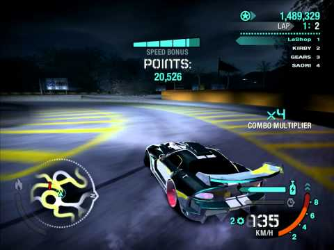 (PC) Need For Speed Carbon Best Drift 2.8m Million (in 2laps) Dodge Viper SRT10