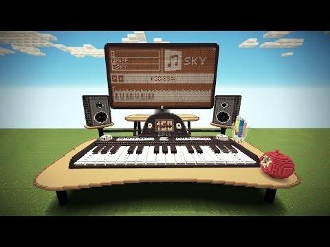 Профессиональный синтезатор в Minecraft.