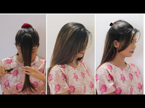Hair cutting - How to cut your own hair at home  Side swept bangs, Flicks  Rinkal Soni