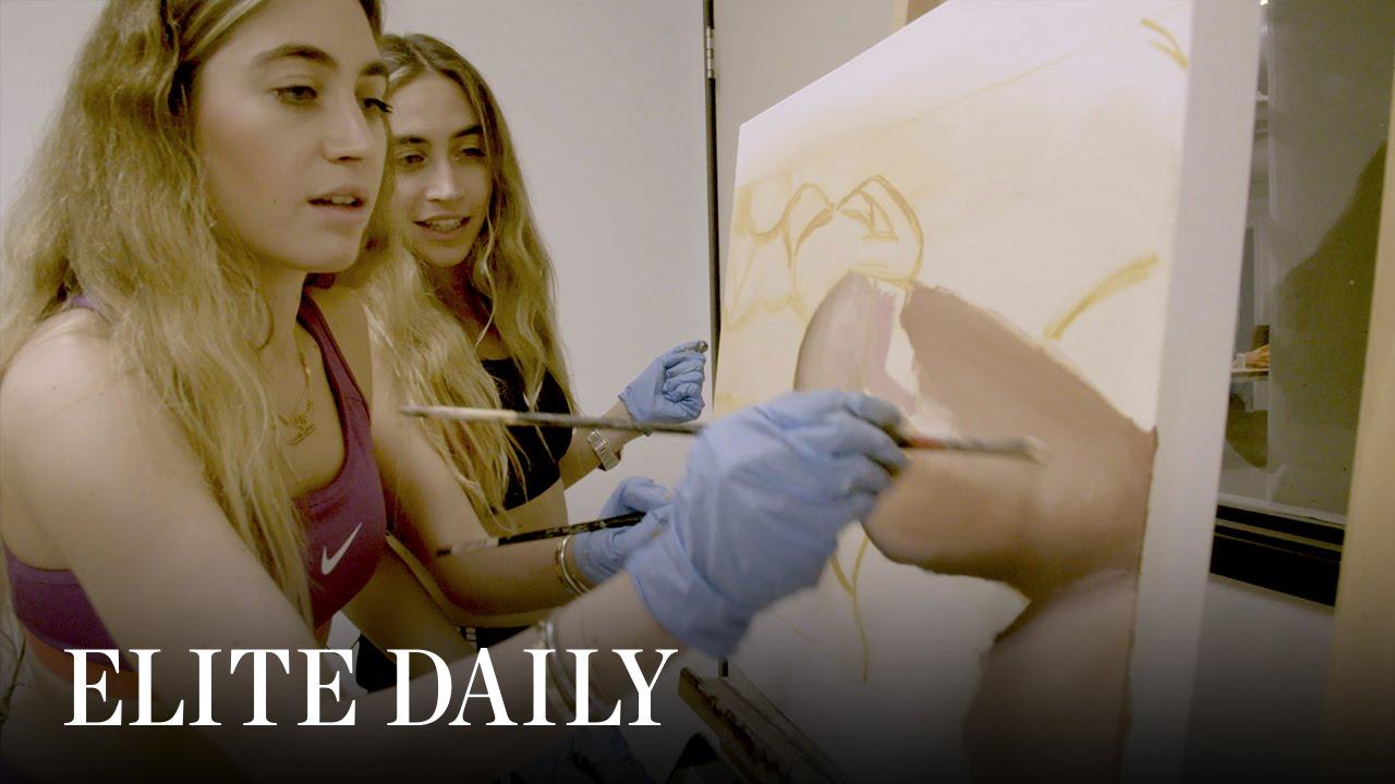 Twin Artists Paint Stills From Kim Kardashian's Sex Tape