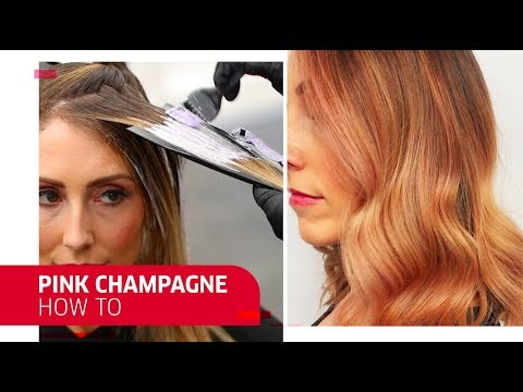 Hair color - How to Perfect Pink Champagne Hair  Wella Professionals