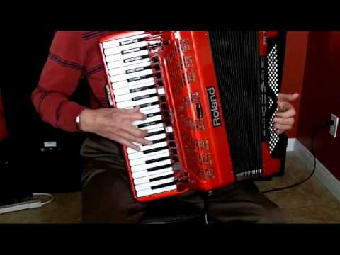 Set Demonstration of Roland FR-7x V-Accordion Using Customized Linked Presets