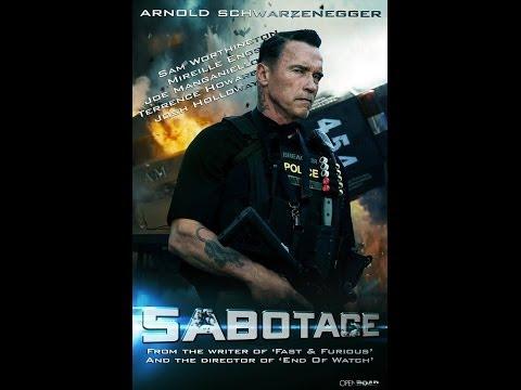 Arnold Schwarzenegger, Sam Worthington, Terrence Howard SABOTAGE Review | Chasing Cinema