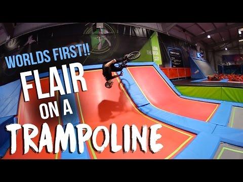 *WORLD FIRST* BMX FLAIR ON A TRAMPOLINE! (видео)
