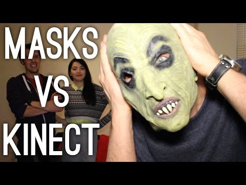 Kinect - Can you cheat Kinect Sports Rivals' face-scanning character creator with rubber masks? Here's how Kinect handles fake noses, stick-on facial hair and party w...