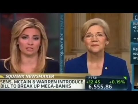 Elizabeth Warren Destroys CNBC Anchors
