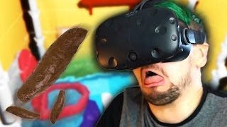 SWIMMING IN POOP | Pipejob (HTC Vive Virtual Reality)