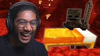I got pranked with a Bed in the Nether in Minecraft by Tyranitar Tube