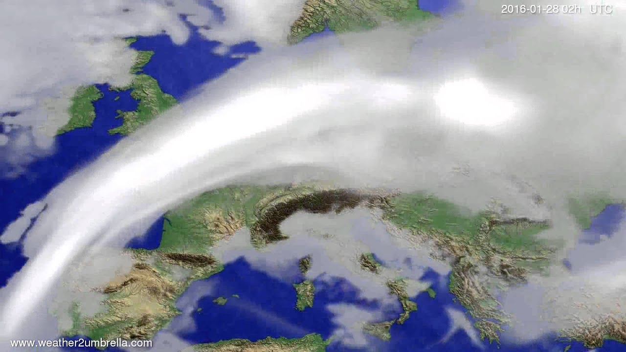 Cloud forecast Europe 2016-01-24