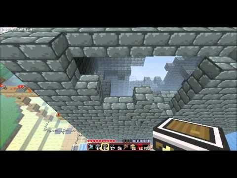 Minecraft self-building/repairing House using piston mod and cobble generat...