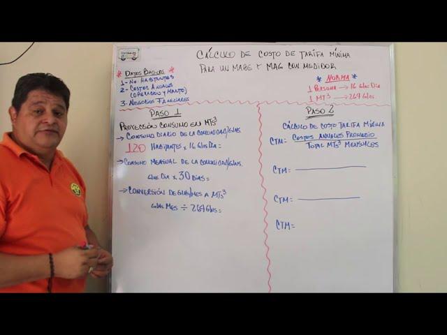 Cálculo de la Tarifa para MABE y MAG con Medidor