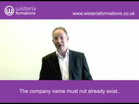 Company Formations Advice - Choosing a Company name (Part 4 of 7)