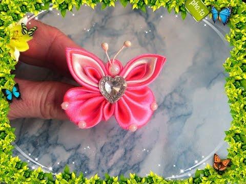 bellissima farfalla in stile kanzashi