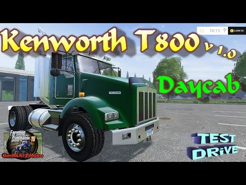 Kenworth T800 Daycab Single Axle Green V1.0