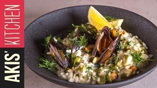 Lemon rice with Mussels (Midopilafo)   Akis Kitchen by Akis Kitchen
