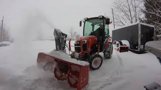 9. Kubota B2650 Blowing 12 inches of snow